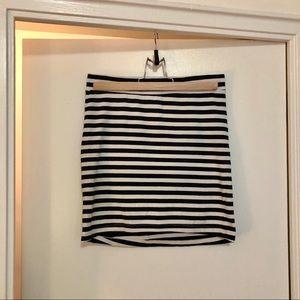 H&M DIVIDED navy and white striped mini skirt